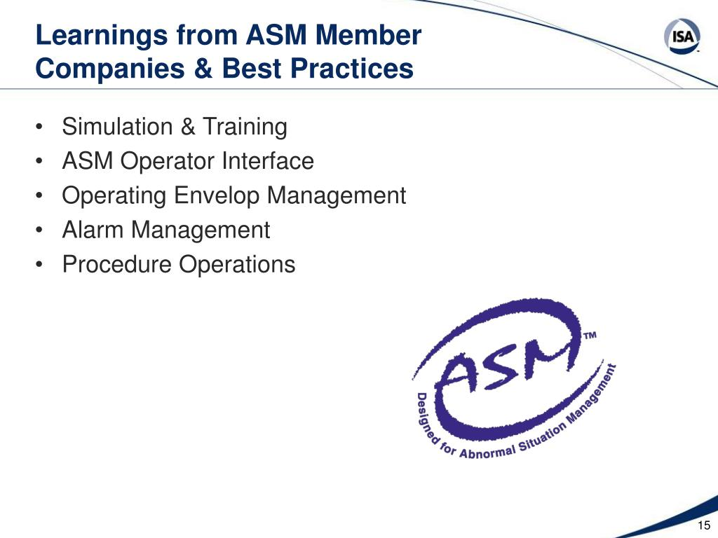 Learnings from ASM Member