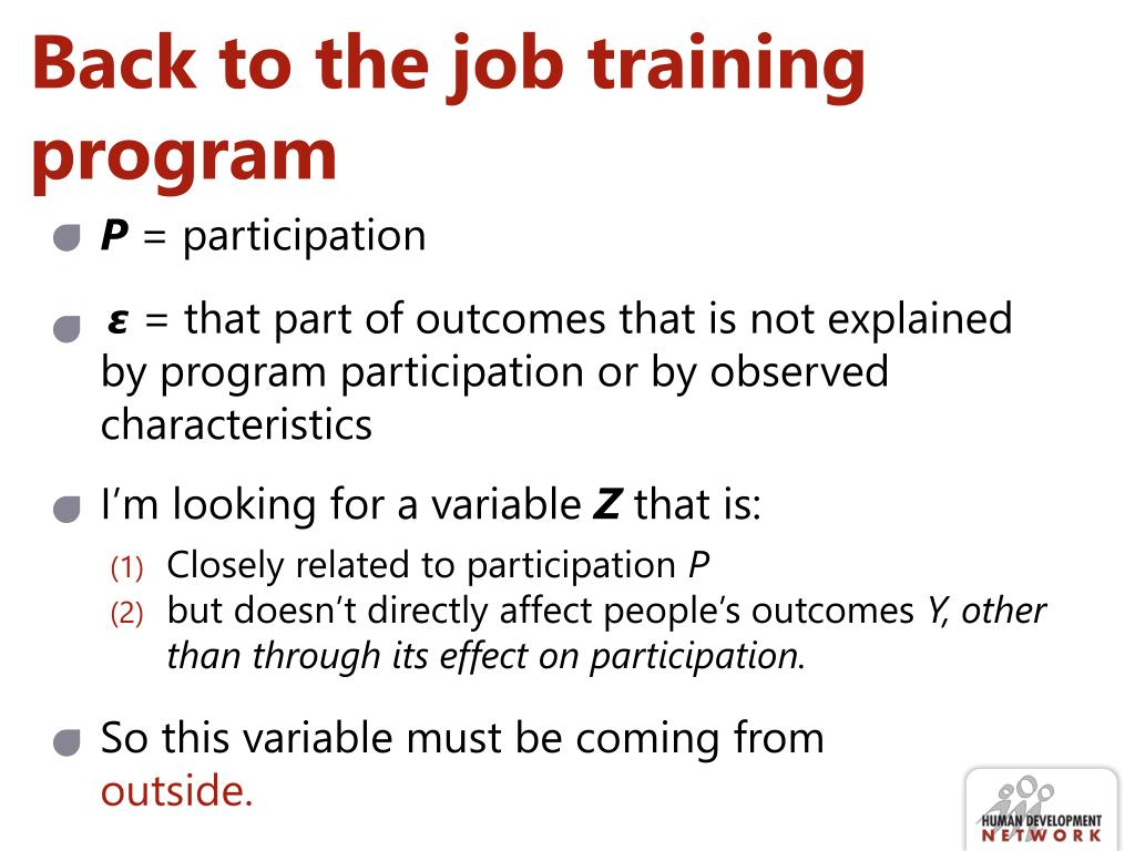 Back to the job training program