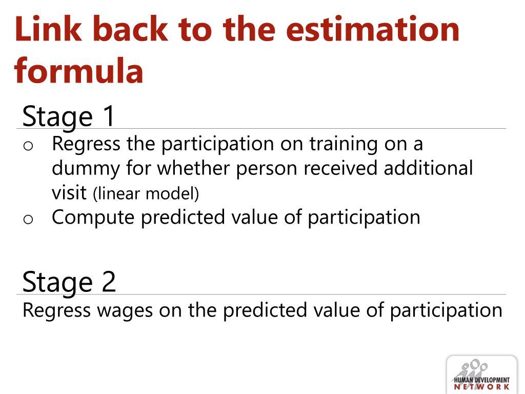 Link back to the estimation formula