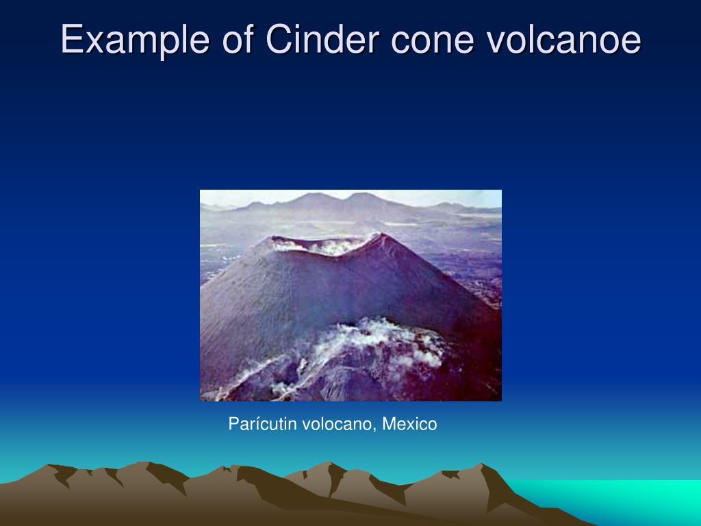Example of Cinder cone volcanoe
