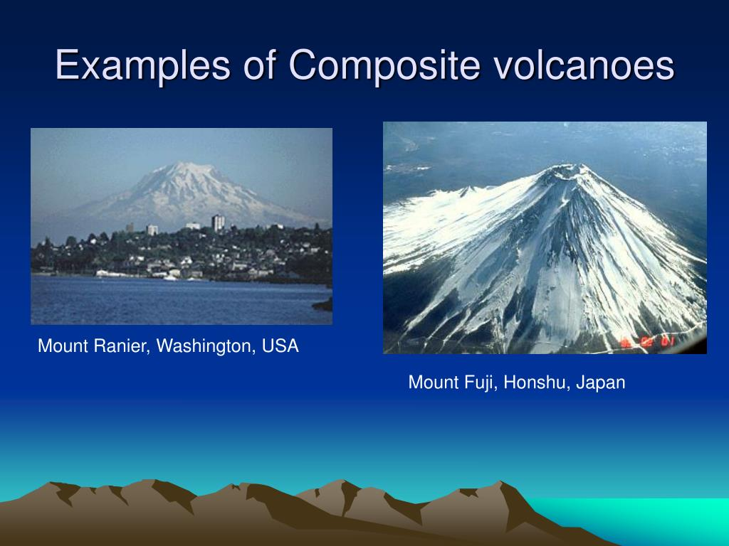 Examples of Composite volcanoes