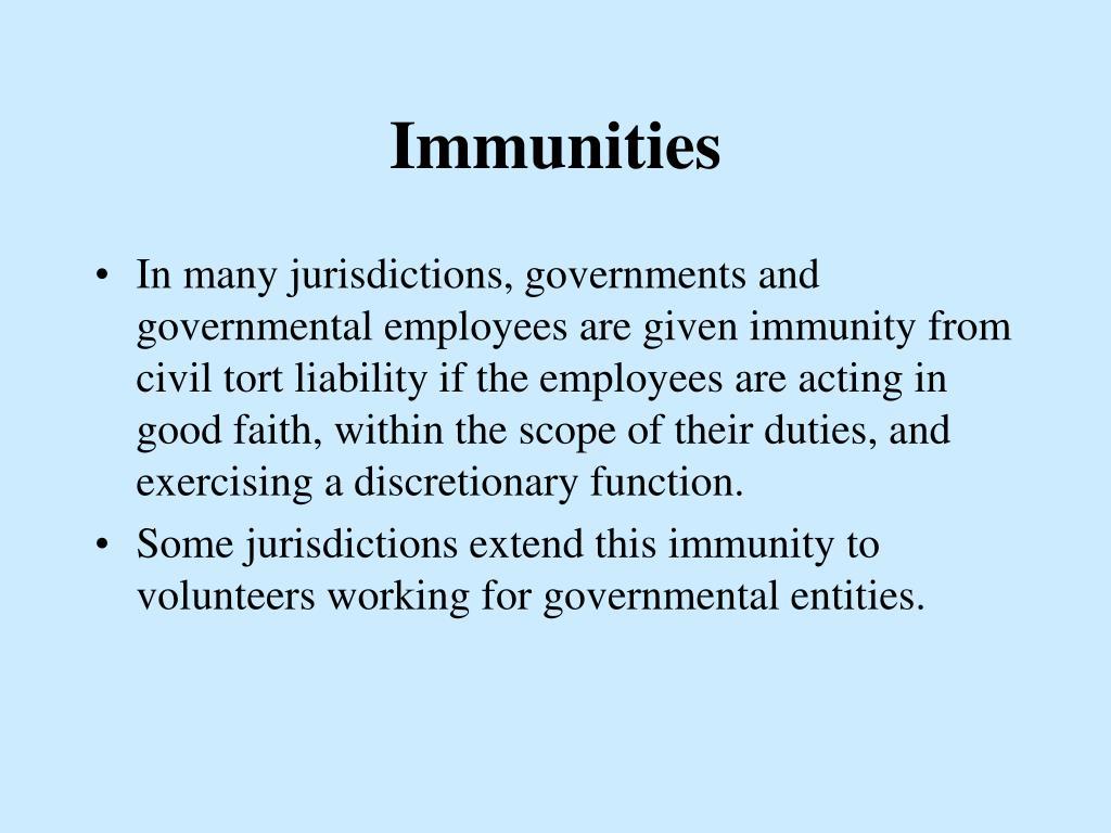 Immunities