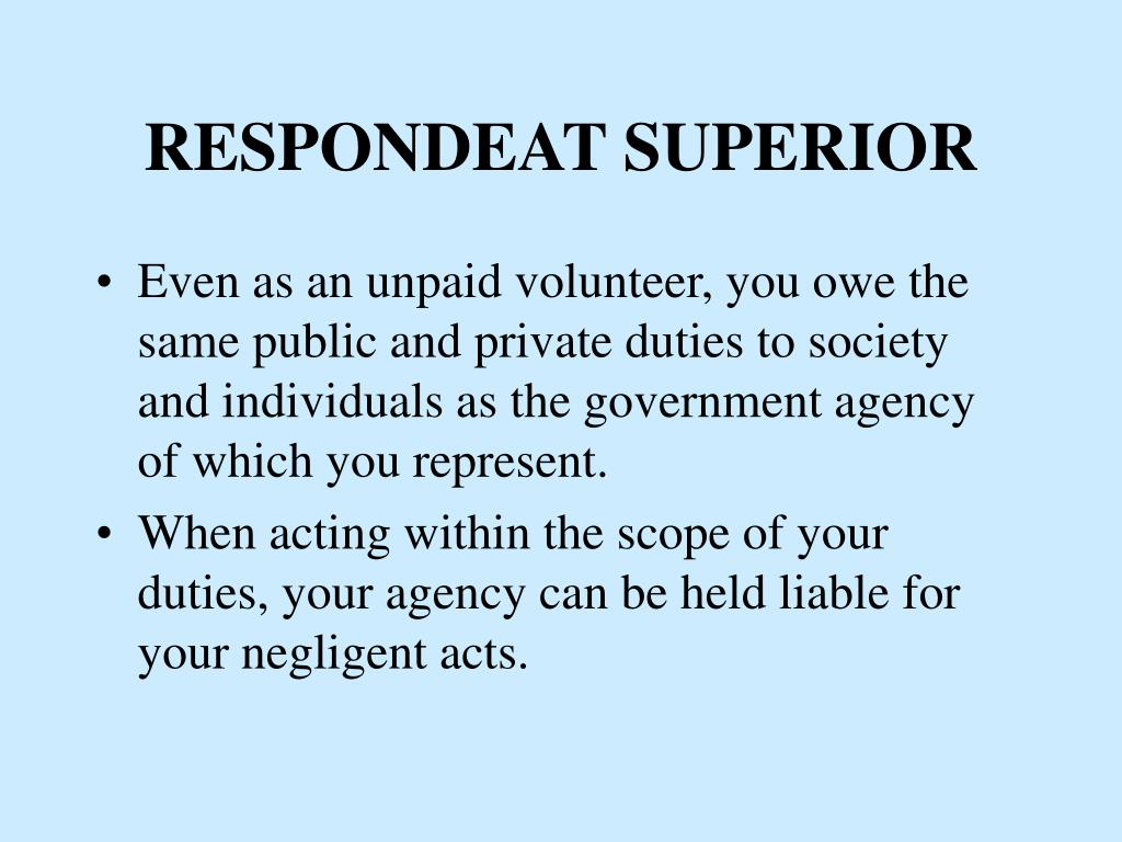 RESPONDEAT SUPERIOR