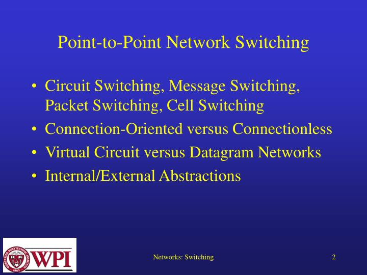 Point to point network switching2 l.jpg