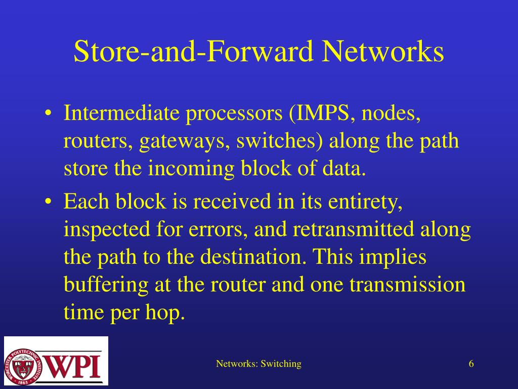Store-and-Forward Networks