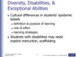 diversity disabilities exceptional abilities