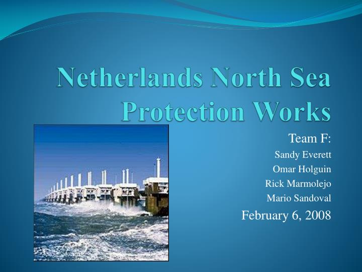 Netherlands north sea protection works