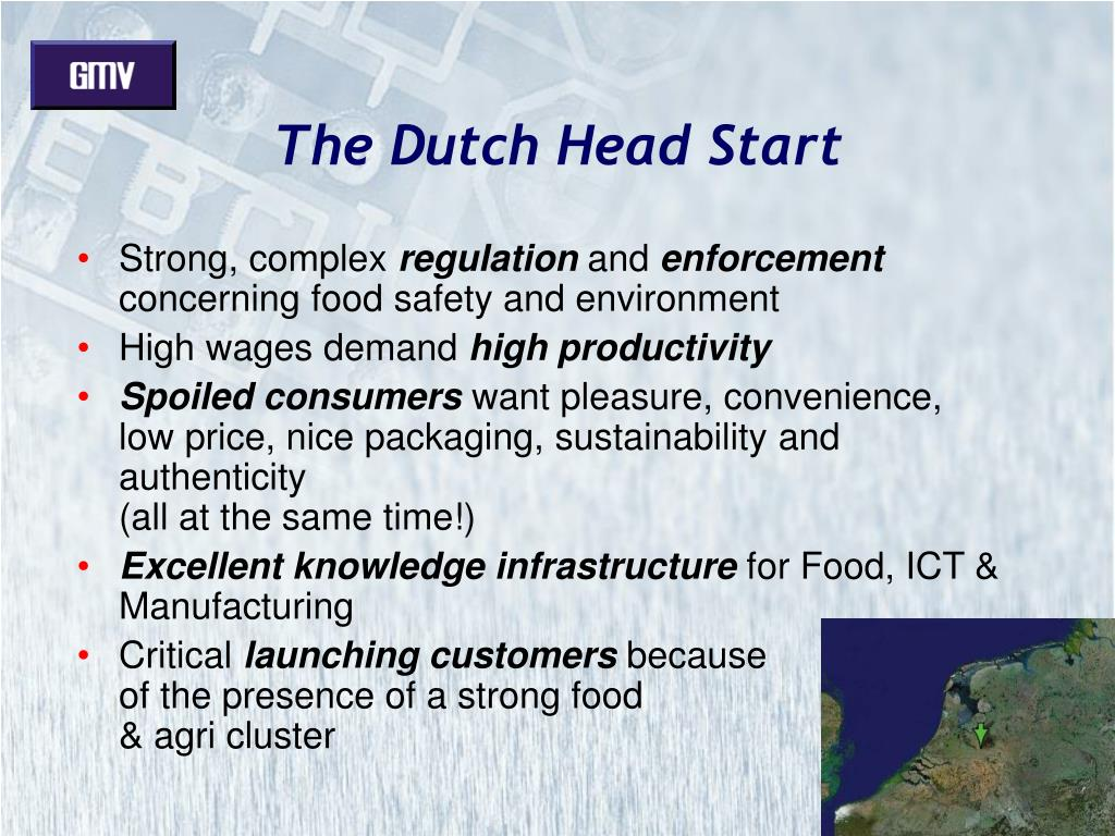 The Dutch Head Start