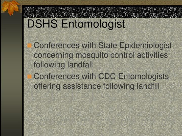 DSHS Entomologist