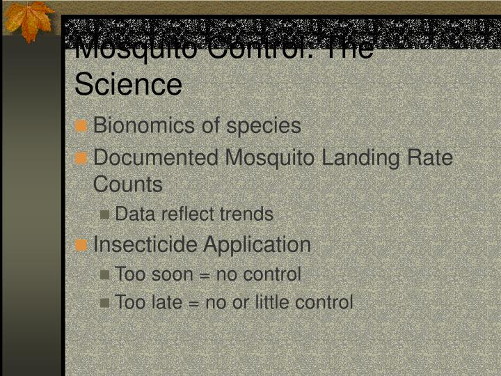 Mosquito Control: The Science