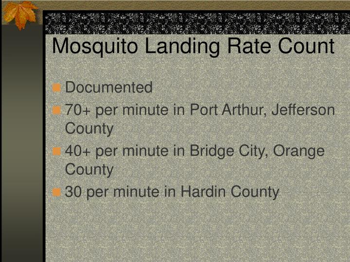 Mosquito Landing Rate Count