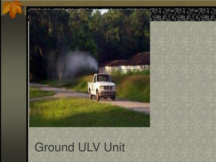 Ground ULV Unit