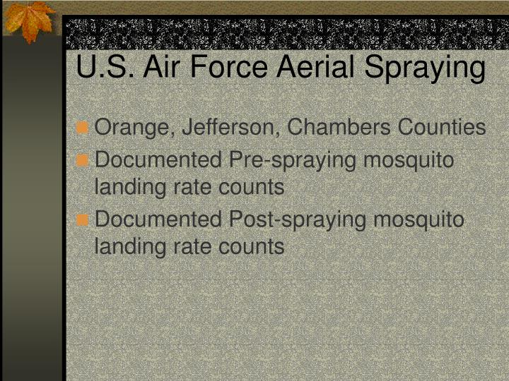 U.S. Air Force Aerial Spraying