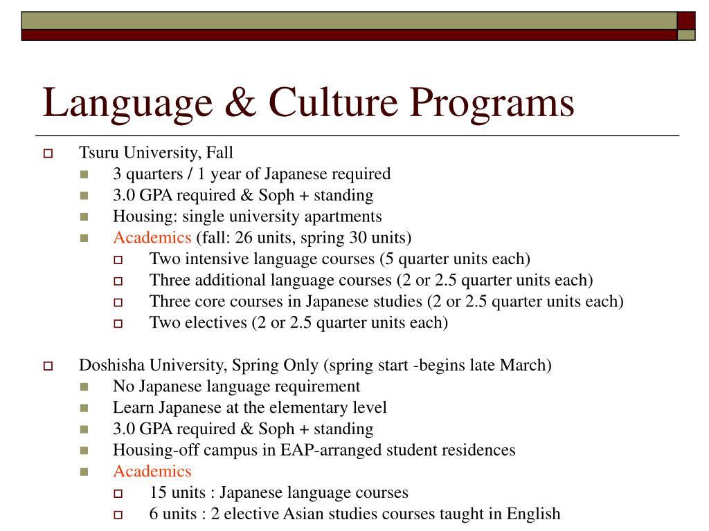 Language & Culture Programs