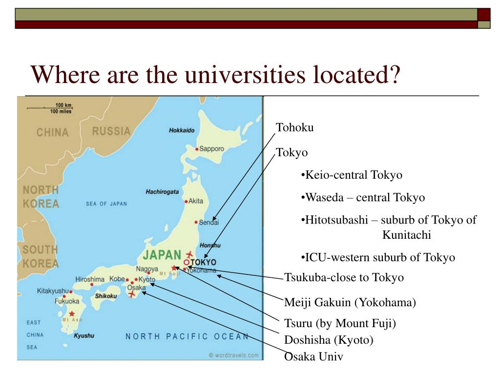 Where are the universities located?