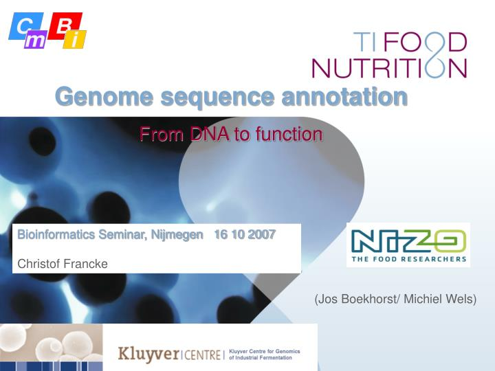 Genome sequence annotation