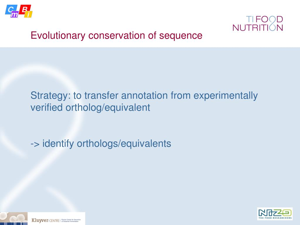 Evolutionary conservation of sequence