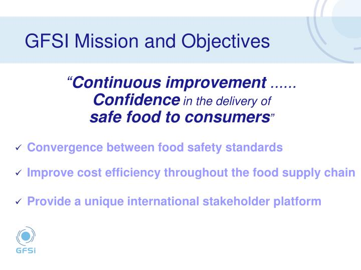 Gfsi mission and objectives