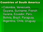 countries of south america