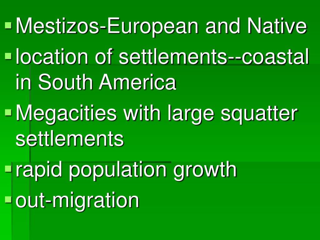 Mestizos-European and Native