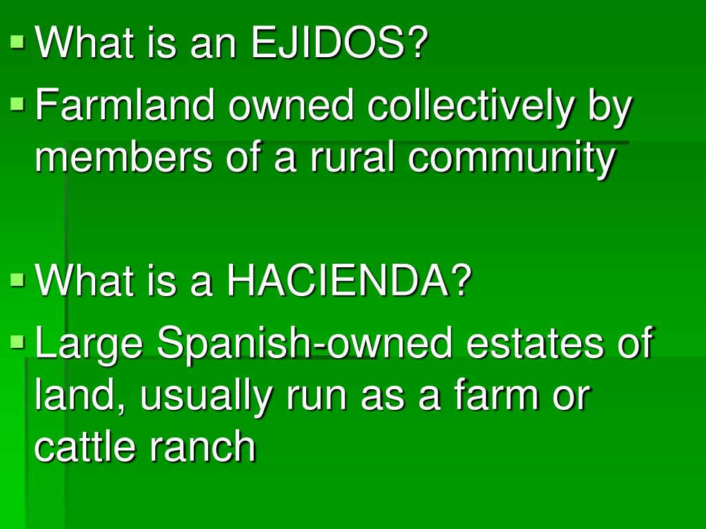 What is an EJIDOS?