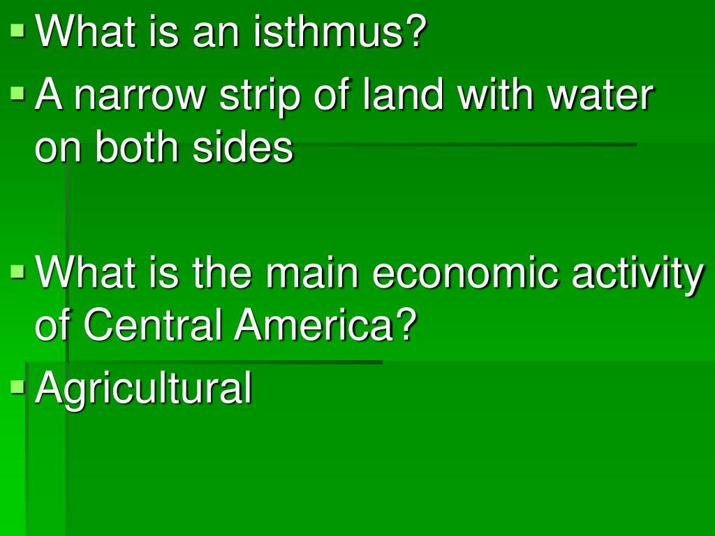 What is an isthmus?