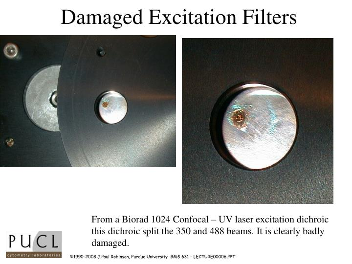 Damaged Excitation Filters