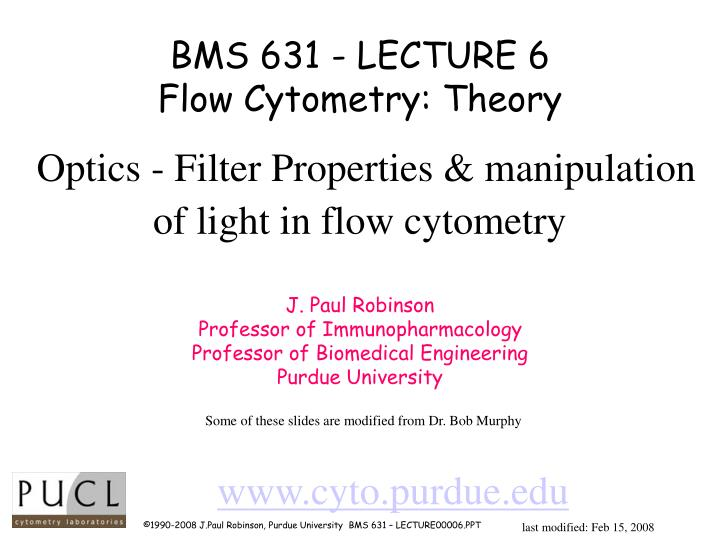 BMS 631 - LECTURE 6