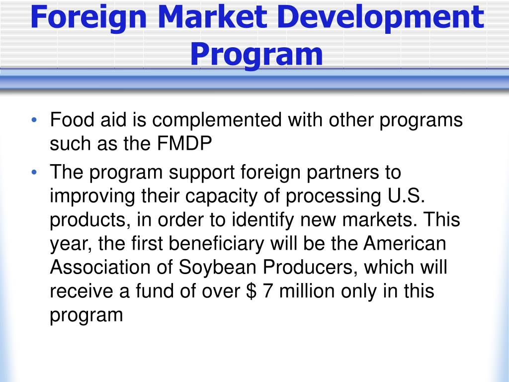 Foreign Market Development Program