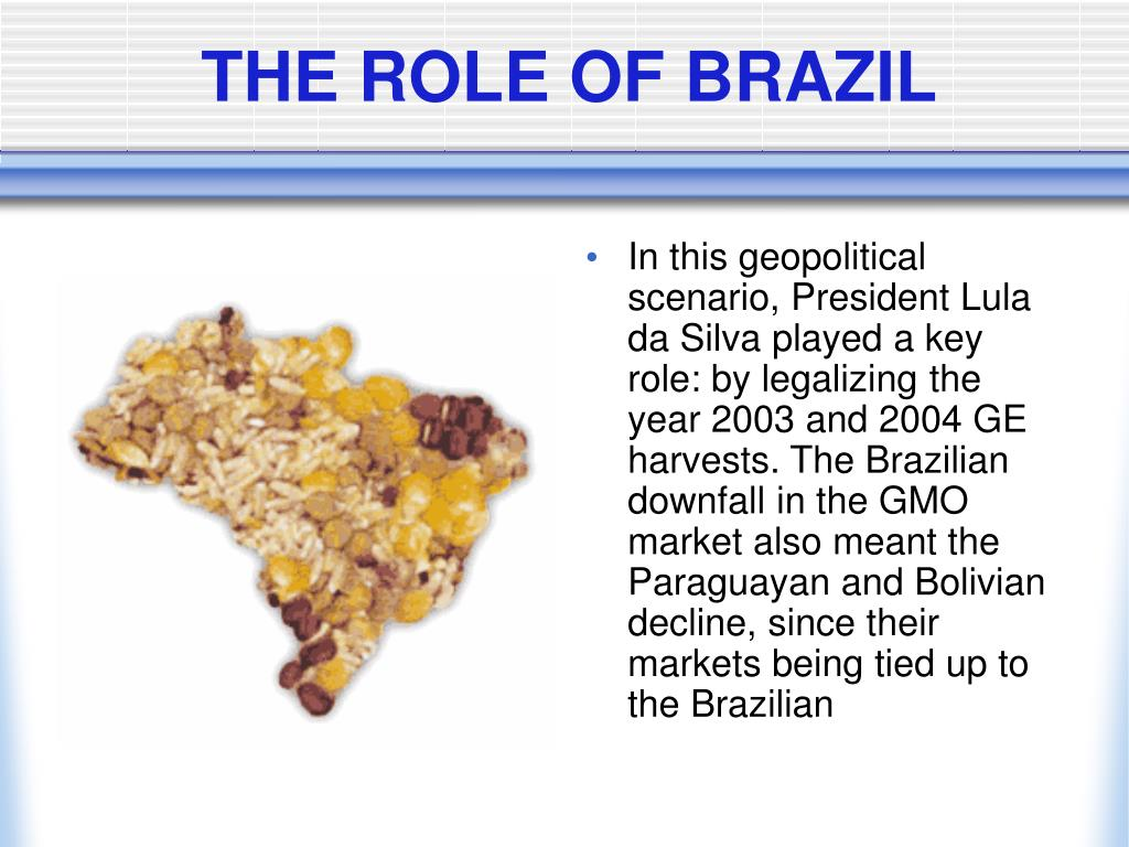 THE ROLE OF BRAZIL