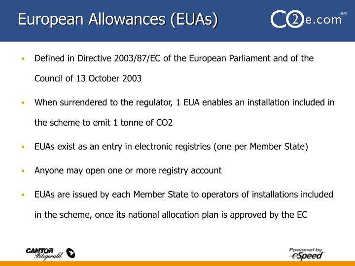 European Allowances (EUAs)