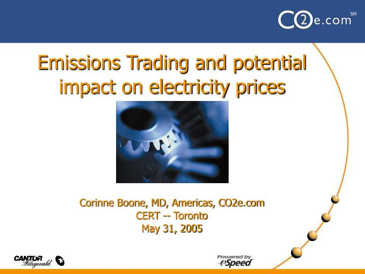Emissions Trading and potential