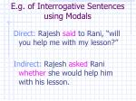 e g of interrogative sentences using modals