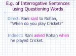 e g of interrogative sentences using questioning words