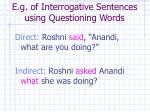 e g of interrogative sentences using questioning words13