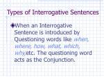 types of interrogative sentences10