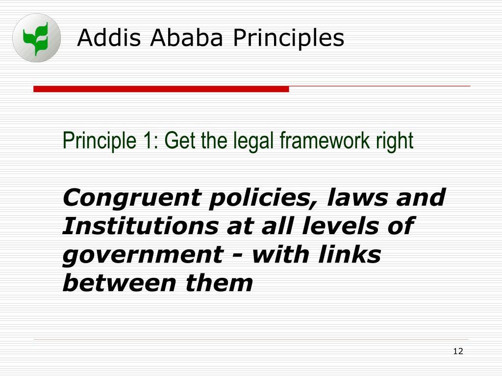 Addis Ababa Principles