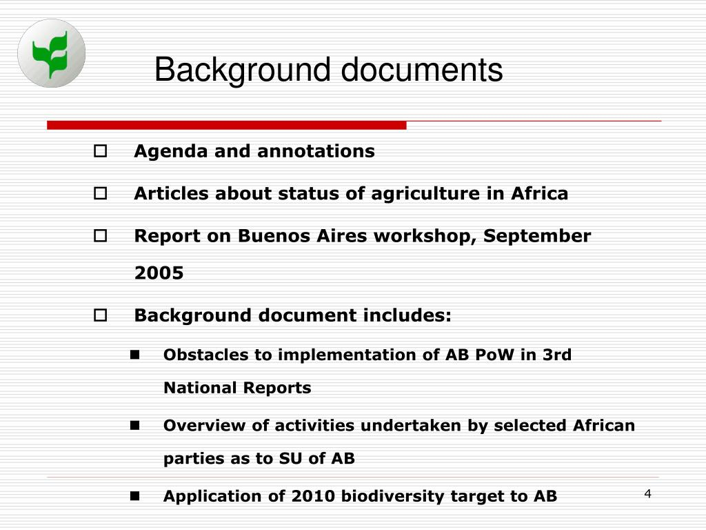Background documents