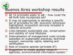 buenos aires workshop results