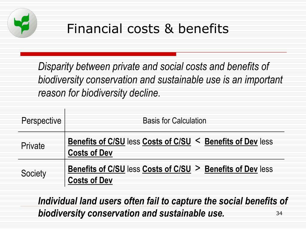 Financial costs & benefits