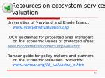 resources on ecosystem services valuation