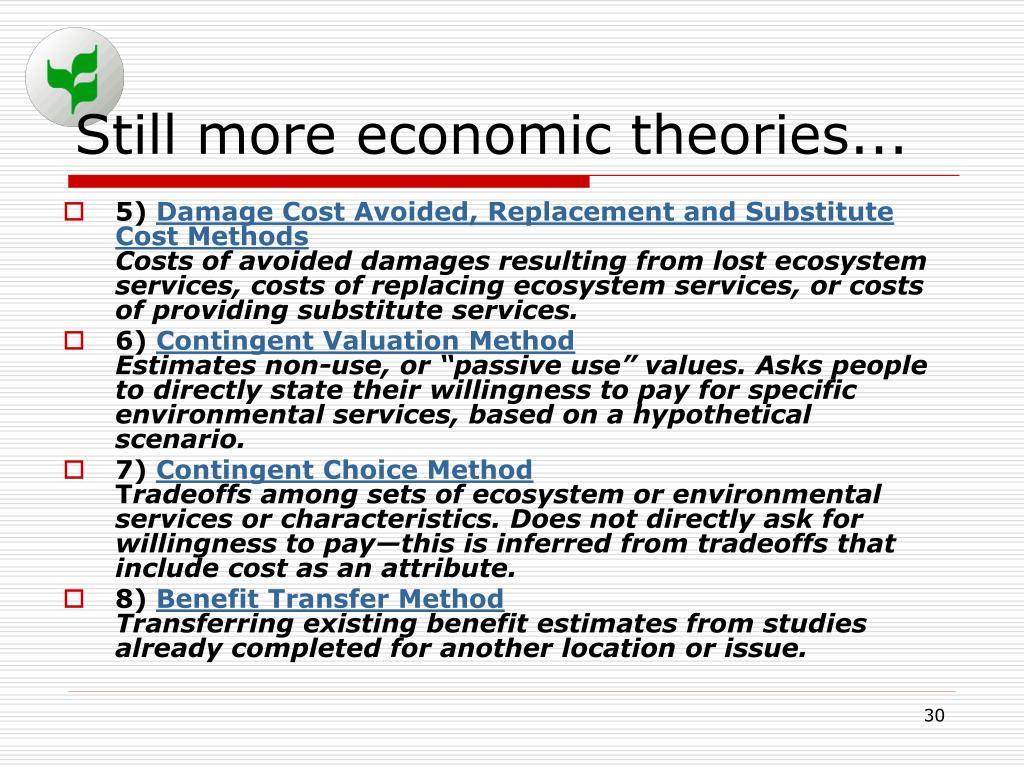 Still more economic theories...