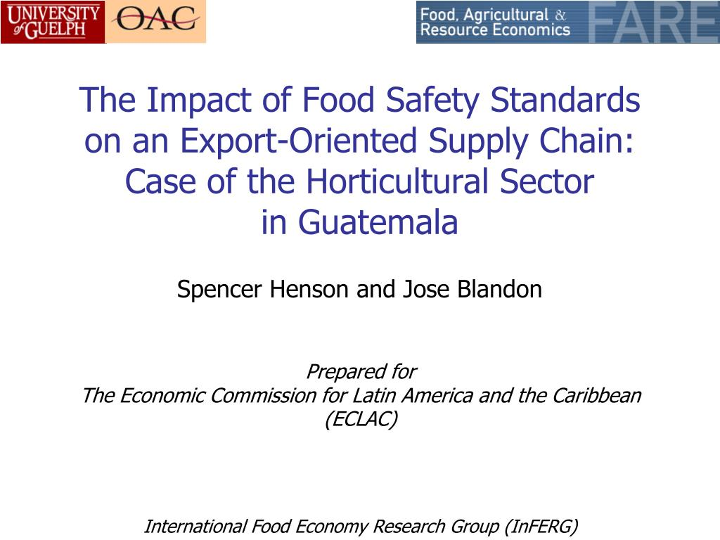 The Impact of Food Safety Standards