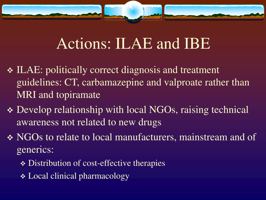 Actions: ILAE and IBE