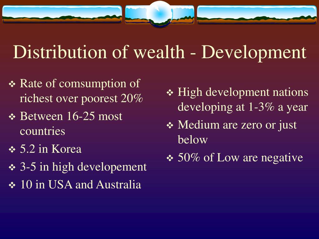 Rate of comsumption of richest over poorest 20%