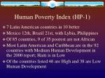 human poverty index hp 1