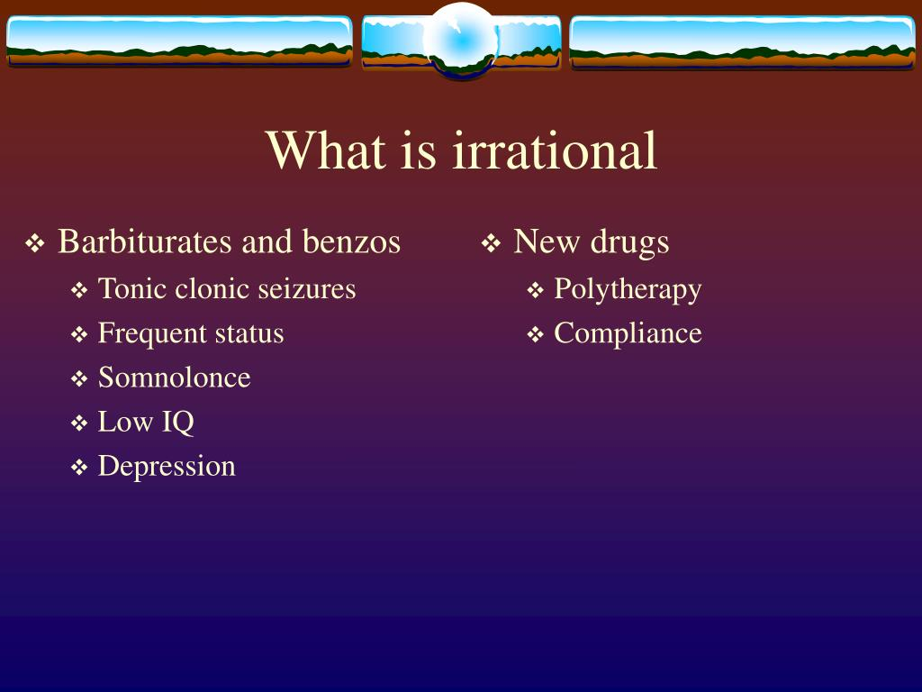 Barbiturates and benzos