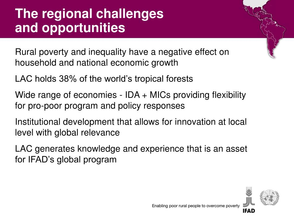 The regional challenges