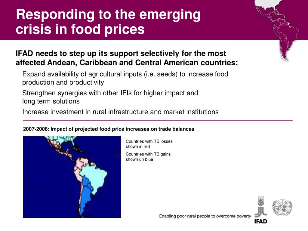 Responding to the emerging crisis in food prices