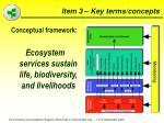 item 3 key terms concepts